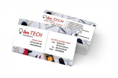 Wizytówka Lentech elektryk