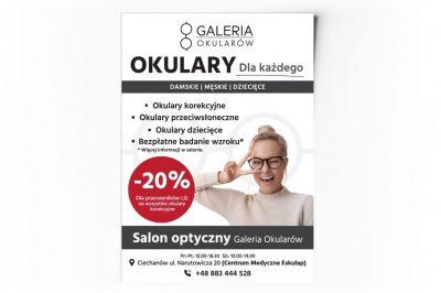 Plakat dla salonu optycznego – ulotka promocyjna