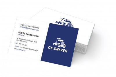 Wizytówki CE DRIVER Agencja Zatrudnienia