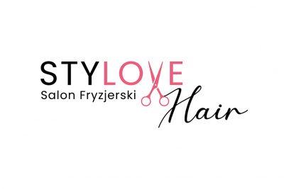 Projekt logo dla salonu fryzjerskiego StyLOVE Hair